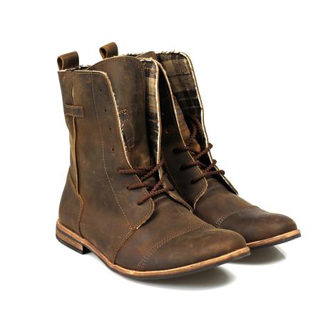 Masatti Cap-Toe Boot // Chocolate Brown Grating (US: 7)