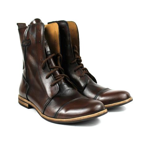 Masatti Cap Toe Boot // Dark Brown (US: 7)