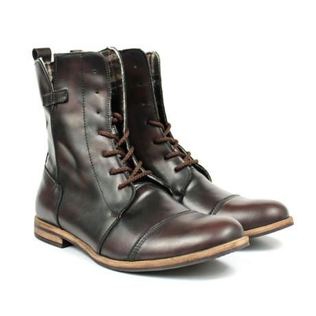 Masatti Cap Toe Boot // Dark Brown Grating (US: 7)