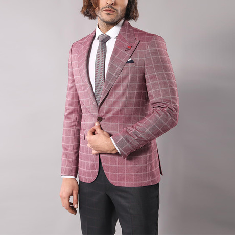 Luca Slim Fit Blazer // Burgundy (Euro: 44)