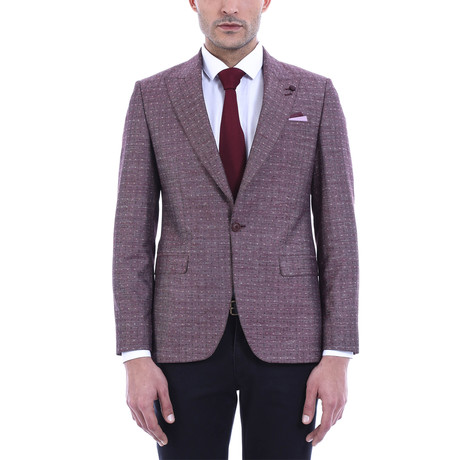 Harvey Slim Fit Blazer // Burgundy (Euro: 44)