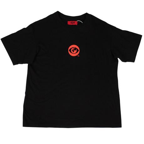 424 // Big Brother Short Sleeve Cotton T-Shirt // Black (XS)