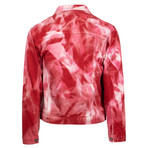 424 // Armes Trucker Tie Dye Jacket // Red (2XL)