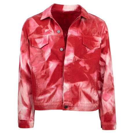 424 // Armes Trucker Tie Dye Jacket // Red (XS)