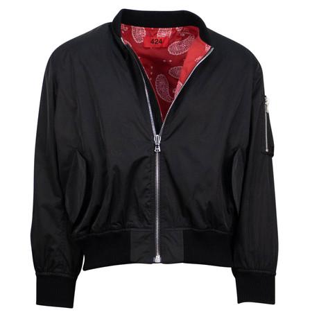424 // Reversible Paisley Bomber Jacket // Black (XS)