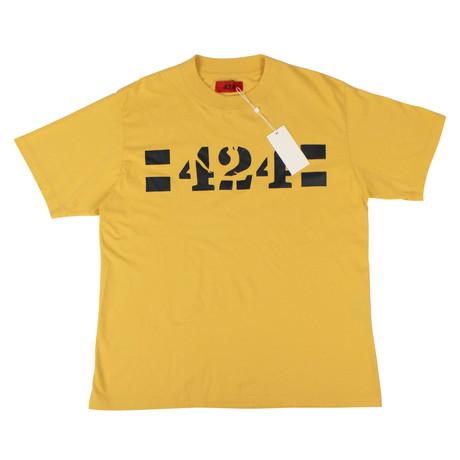 424 // Barricade Short Sleeve Cotton T-Shirt // Yellow (XS)