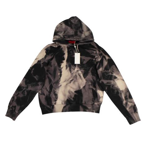 Armes X 424 // Dye Cotton Pullover Hoodie Sweatshirt // Black (XS)