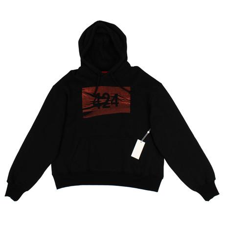 424 // Pullover Hoodie Sweatshirt // Black (XS)