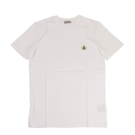 Christian Dior // Visitor Patch Short Sleeve Cotton T-Shirt // White (XS)