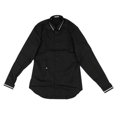 Christian Dior // Stripe Cotton Dress Shirt // Black (US: 15R)