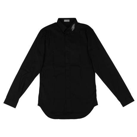 Christian Dior // Tribal Cotton Dress Shirt // Black (US: 15R)