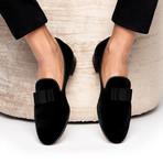 Beau Velour Slippers // Black (Euro: 39)