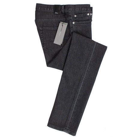 Dior // Faded Cotton Blend Jeans // Black (28)