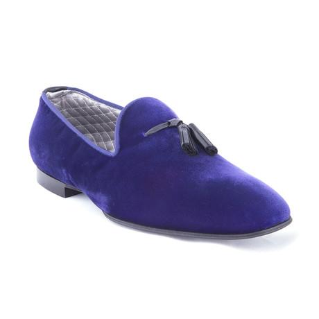 Men's Velvet Loafers// Indigo (US: 7)