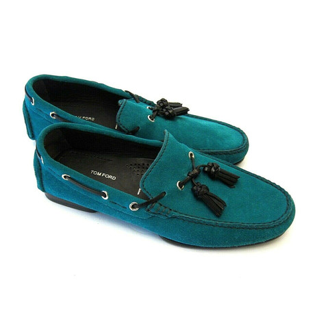 Men's Suede Loafers // Turquoise (US: 7)