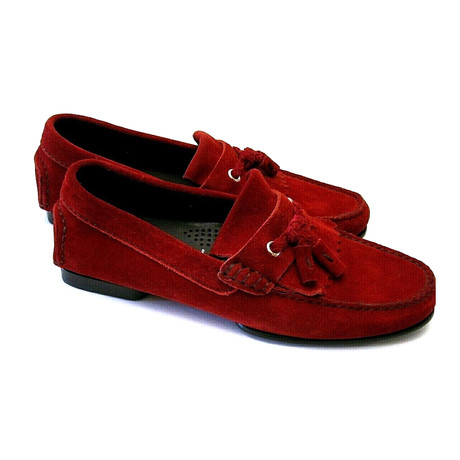 Men's Suede Loafers // Red (US: 7)