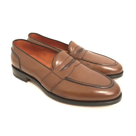 Men's Leather Loafers// Mid Brown (US: 7)