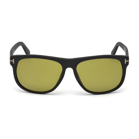 Men's Oliver Sunglasses // Matte Black + Brown