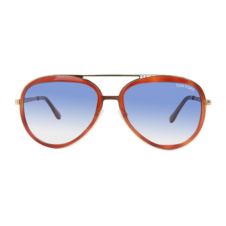 Men's Andy Sunglasses // Havana + Blue Gradiet