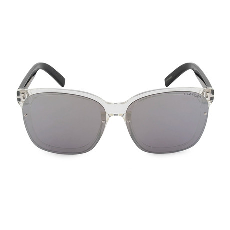 Clear Mirror Sunglasses // Crystal + Mirror