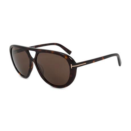 Men's Marley Sunglasses // Dark Havana + Brown Gradient