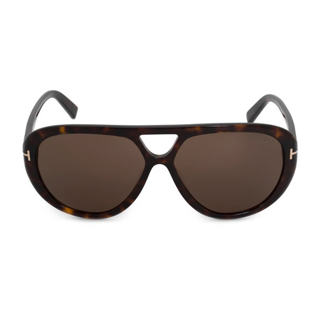 Men's Marley Sunglasses // Dark Havana + Brown Gradient
