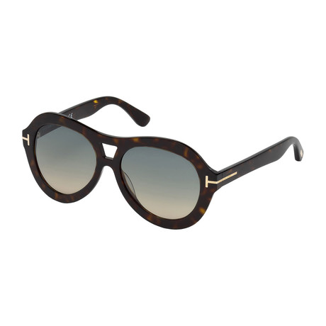 Tom Ford // Women's Isla Sunglasses // Dark Havana + Gray Gradient