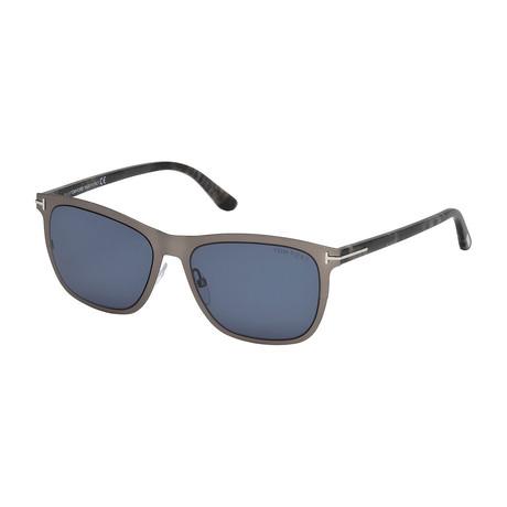 Men's Alasdhair Sunglasses // Matte Light Ruthenium + Gray