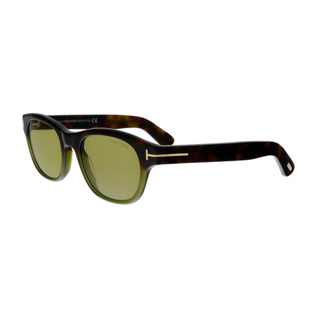 Men's O'Keefe Sunglasses // Dark Havana + Green