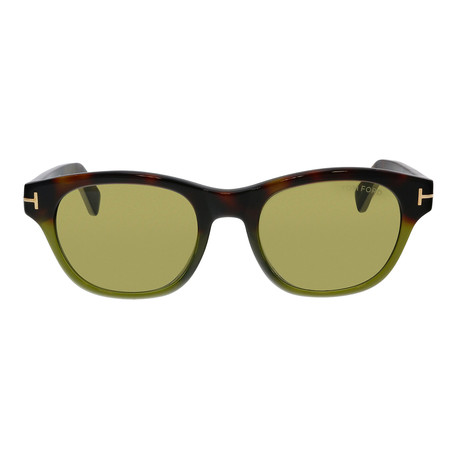 Men's O'Keefe Sunglasses // Coloured Havana + Green
