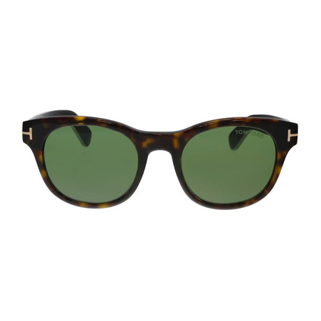 Unisex Fisher Sunglasses // Dark Havana + Green