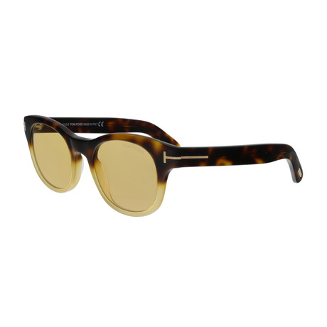 Men's Fisher Sunglasses // Blonde Havana + Yellow