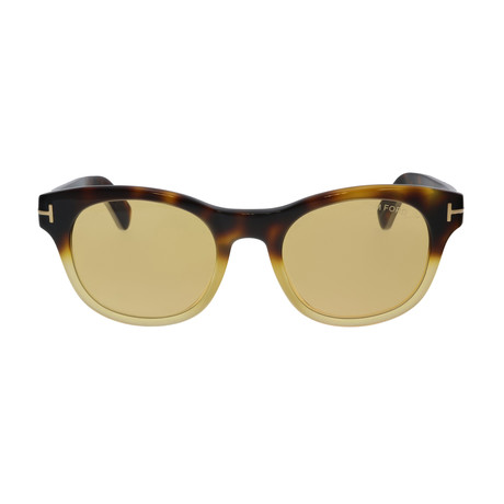 Unisex Fisher Sunglasses // Coloured Havana + Yellow
