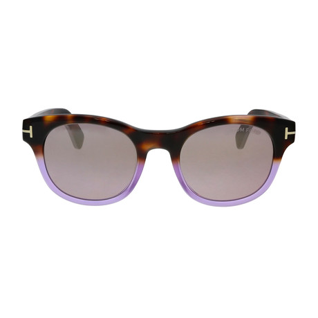 Unisex Fisher Sunglasses // Havana + Violet