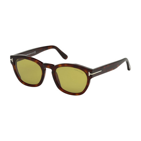 Men's Bryan Sunglasses // Dark Havana + Green