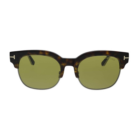 Men's Harry Clubmaster Sunglasses // Dark Havana + Green