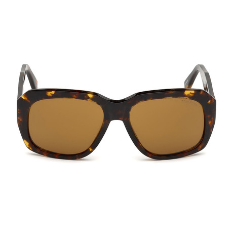 Unisex Andre Sunglasses // Dark Havana + Brown Gradient