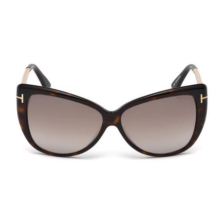 Reveka Sunglasses // Dark Havana + Brown Gradient