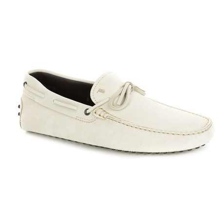 Suede Loafer // White (UK: 6)