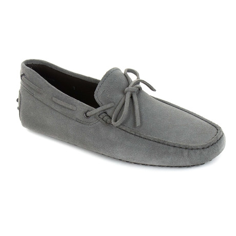 Tied Suede Loafer // Gray (UK: 6)