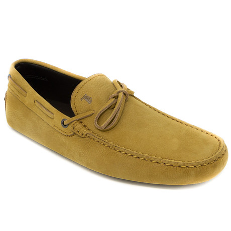 Tied Suede Loafer // Mustard Yellow (UK: 6)