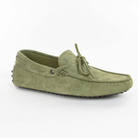 Tied Leather Loafer // Light Green (UK: 6)