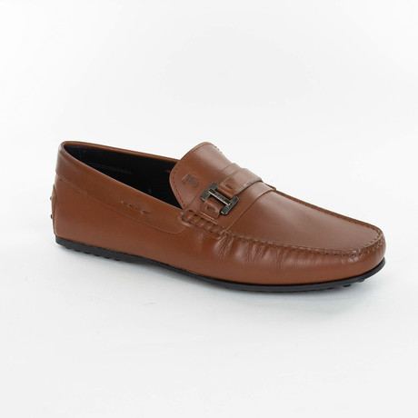 Leather Buckle Loafer // Brown (UK: 6)