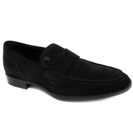 Suede Loafer // Black (UK: 5)
