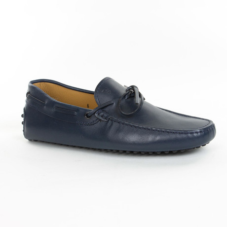 Tied Leather Loafer // Navy (UK: 6)