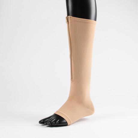 Anti-Fatigue Compression Socks // Nude (S-M)