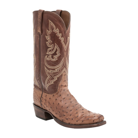 Nate Burn Ranch Extra Wide Cowboy Boots // Barnwood Burnished (US: 7)
