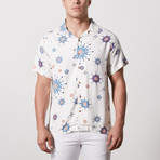 Baxter Casual Camp-Collared Short Sleeve Button Down // Eggshell (L)
