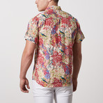 Murray Casual Point-Collared Short Sleeve Button Down // Multicolor (L)