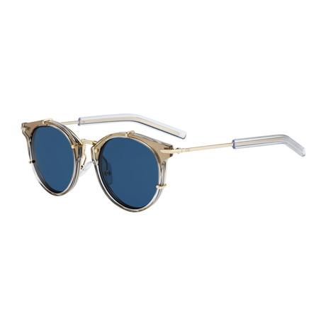 Men's 0196S Sunglasses // Gold Taupe + Blue + Gray